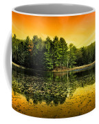 Orange Sunrise Reflection Landscape Coffee Mug