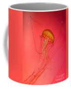 Orange Swimming Jellyfish Coffee Mug
