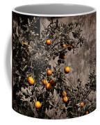 Orange Tree On Rustic Background Coffee Mug