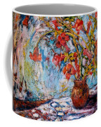 Orange Trumpet Flowers Coffee Mug