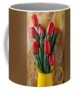 Orange Tulips In Yellow Pitcher Coffee Mug by Garry Gay