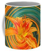 Orange Twist Daylily Photoart Coffee Mug