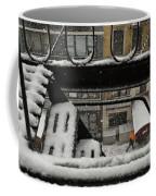 Orange Umbrella - Winter In New York Coffee Mug