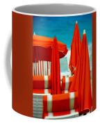 Orange Umbrellas Coffee Mug