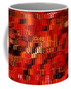 Orange Under Glass Abstract Coffee Mug