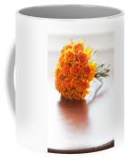 Orange Wedding Bouquet Roses Coffee Mug