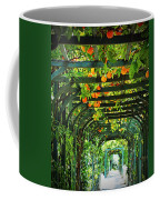 Oranges And Lemons On A Green Trellis Coffee Mug