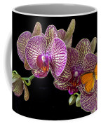 Orchid And Orange Butterfly Coffee Mug