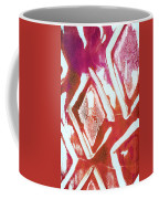 Orchid Diamonds- Abstract Painting Coffee Mug by Linda Woods