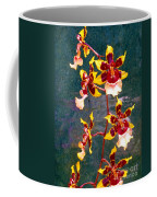 Orchid Spray By Pottery  Coffee Mug