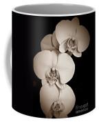 Orchid Trio Sepia Coffee Mug