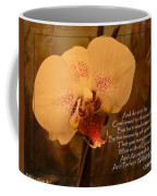 Orchid With Verse Coffee Mug