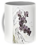 Orchids And Suminagashi Coffee Mug