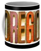Oregon Antique Letterpress Printing Blocks Coffee Mug
