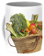 Organic Fruit And Vegetables In Shopping Bag Coffee Mug