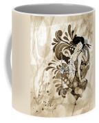 Oriental Beauty Sepia Tone Coffee Mug