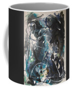 original abstract blue and black painting for sale-Blue Valley Coffee Mug