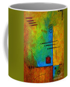 Original Abstract Painting Digital Conversion For Textured Effect Resonating IIi By Madart Coffee Mug