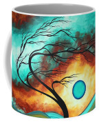 Original Bold Colorful Abstract Landscape Painting Family Joy I By Madart Coffee Mug