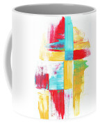 Original Bold Colorful Abstract Painting Patchwork By Madart Coffee Mug by Megan Duncanson