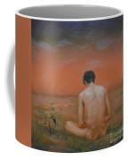 Original Oil Painting Gay Man Art-male Nude#16-2-5-43 Coffee Mug