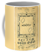 Original Patent For Monopoly Board Game Coffee Mug by Edward Fielding