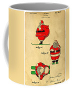 Original Patent For Santa On Skis Figure Coffee Mug