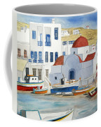 Watercolor - Mykonos Greece Detail Coffee Mug