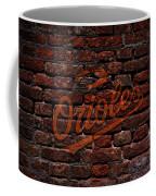 Orioles Baseball Graffiti On Brick  Coffee Mug