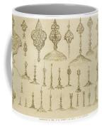 Ornamental Knobs Shaped As Domes Coffee Mug