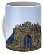 Ornate Architectural Artwork On The Musee Du Louvre Buildings In Paris France  Coffee Mug