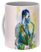 Ornette Coleman - Watercolor Portrait Coffee Mug
