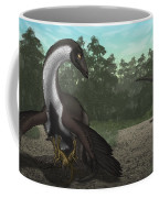 Ornithomimus Mother Dinosaur Coffee Mug by Vitor Silva