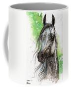Ostragon Polish Arabian Horse Painting   Coffee Mug