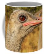 Ostrich Closeup Coffee Mug by Jess Kraft