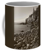 Otter Cliffs Black And White Coffee Mug