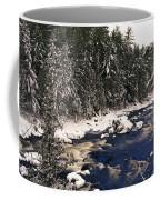 Ouareau River And Snow Covered Coffee Mug