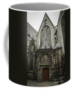 Oude Kerk Door With Bikes Amsterdam Coffee Mug