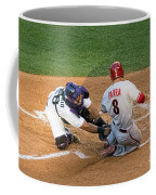 Out At The Plate Coffee Mug