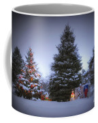 Outdoor Christmas Tree Coffee Mug