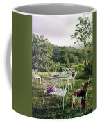 Outdoor Furniture By Lloyd On Grassy Hillside Coffee Mug