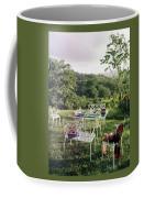 Outdoor Furniture By Lloyd On Grassy Hillside Coffee Mug