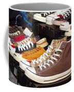Outdoor Vendor Sells Canvas Shoes Coffee Mug
