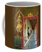 Outer Hall In Thai-khmer Pagoda At Grand Palace Of Thailand Coffee Mug