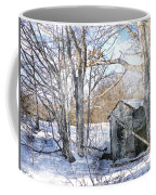 Outhouse In Winter Coffee Mug