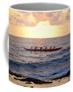 Outrigger Canoe At Sunset In Kailua Kona Coffee Mug