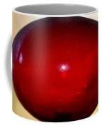 Oval Red Abstract Coffee Mug