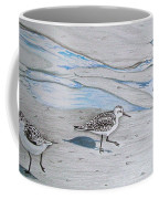 Overcast Day With Sanderlings Coffee Mug