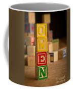 Owen - Alphabet Blocks Coffee Mug