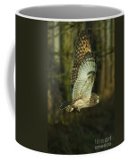 Owl In Flight Coffee Mug